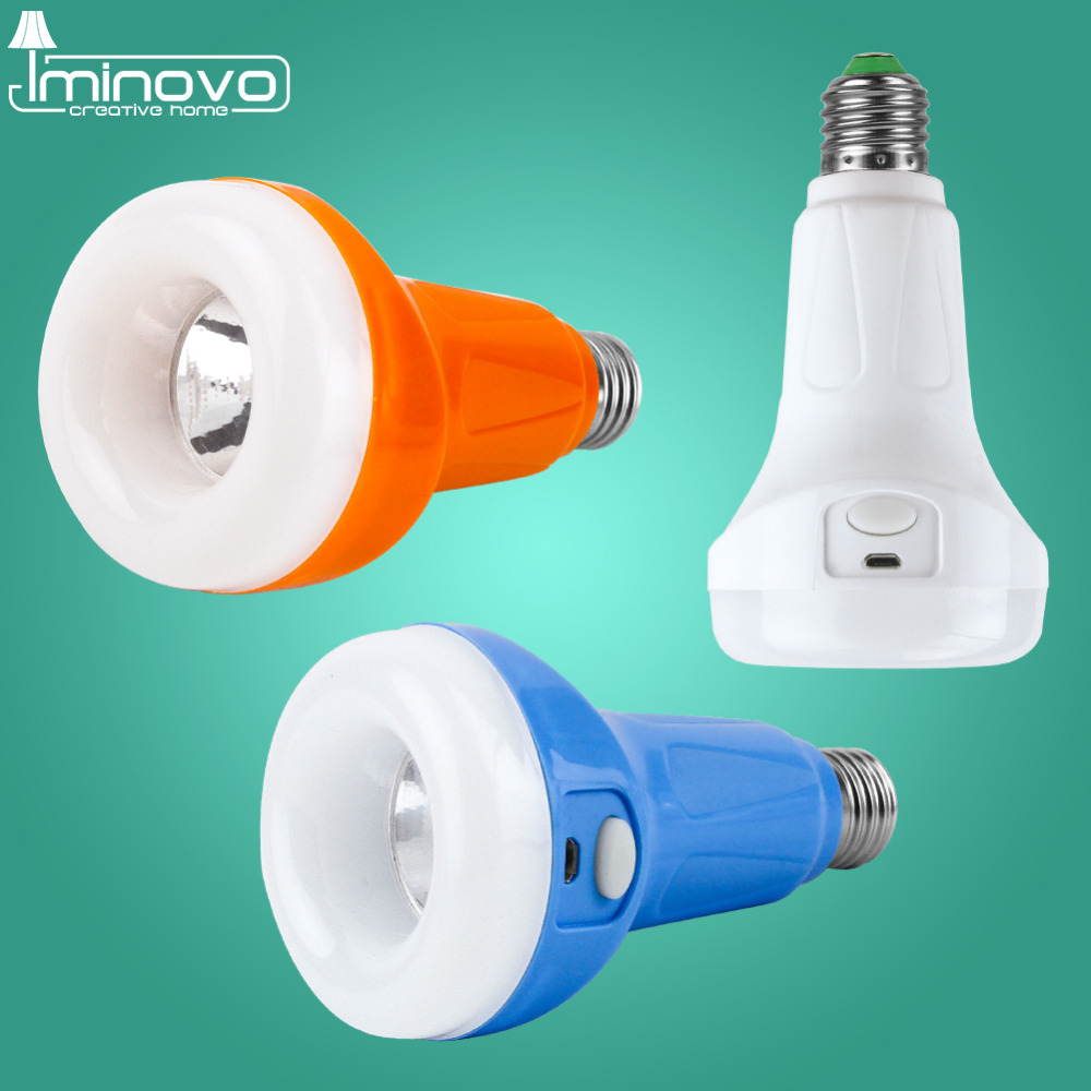 iminovo 15W 220VEmergency Night Lights Intelligent Bulbe Chargeable Battery Lighting Lamp Outdoor Hanging Camping Tent Bulb