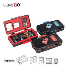 LENSGO D950 Camera Battery Storage Box Case Shockproof Protector for AA Battery SD CF XQD Memory Card Organizer Holder