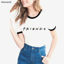 2019 Summer tops friends tshirt women vogue graphic Print t shirt femme Friends Tv show T-shirt female BFF tumblr tops tees