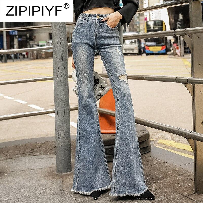 Pour Lavé Élégant Moulante Denim Pantalon Déchiré K406 Jeans Femelle 2019 Slim Taille Nouvelle Femmes Jean Élastique Haute UwUOqHd