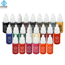 OPHIR 23 Color 1/2OZ Micro Pigment Professional Makeup Eyebrow Eyeliner Lip Tattoo Ink Pigment Body Tattoo Art _TA116(1-23)