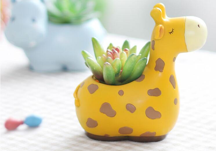 Modern Cartoon Cute Animals Shape Mini Succulent Planter Pot Creative Handicraft Ceramic Desktop Decoration Flower Pots L458