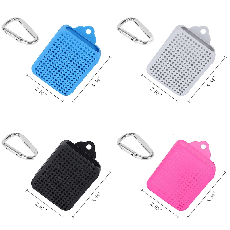 Silicone Protective Skin Case Cover Carabiner For JBL GO 2 Bluetooth Speaker