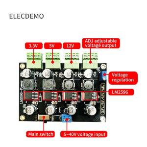 Image 2 - Модуль LM2596, многоканальный импульсный источник питания 3,3 В/5 В/12 В/ADJ, регулируемая выходная мощность, понижающий модуль питания