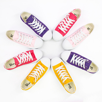 Wen New Summer Low Top Casual shoes Unisex Canvas Shoes Solid Yellow Pink Purple Rose Red Sneakers Women Men Vulcanize Shoes