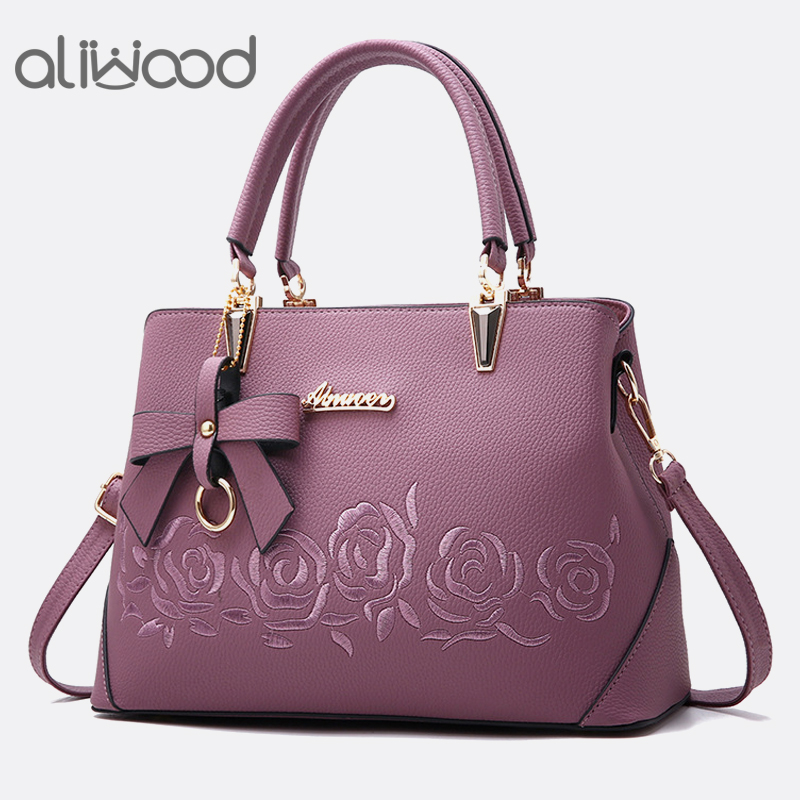 Aliwood Europe Fashion Womens Handbags Ladies Leather Shoulder bag High Quality Messenger Bags Females Crossbody Bag with BowAliwood Europe Fashion Womens Handbags Ladies Leather Shoulder bag High Quality Messenger Bags Females Crossbody Bag with Bow