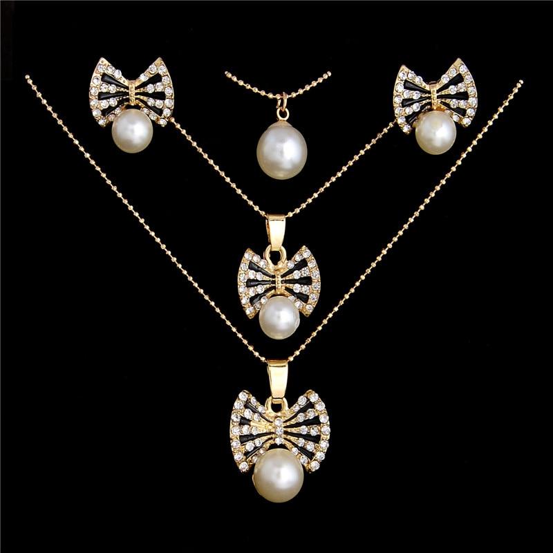 Aliexpresscom Buy MINHIN Lovely Wedding Jewelry Set Simulated