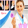 (S+L) 2pc Feminine hygiene products vagina care / lady menstrual cup / alternative tampons medical silicone cups Safety lady cup