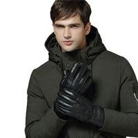 YWMQFUR New 2017 Brand Men Gloves 100 Genuine Sheepskin Gloves Pure Natural Wool And Sheepskin Warm