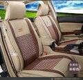 Para Hyundai Accent i30 ix35 tucson elanter Lujo Cuero de la pu tejido Ventile Delantero y Trasero Completo fundas de asiento de coche de cuatro estaciones