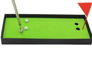 Image 4 - 新ミニゴルフクラブパターボールペンゴルファーギフトボックスセットデスクトップの装飾学用品ゴルフアクセサリー
