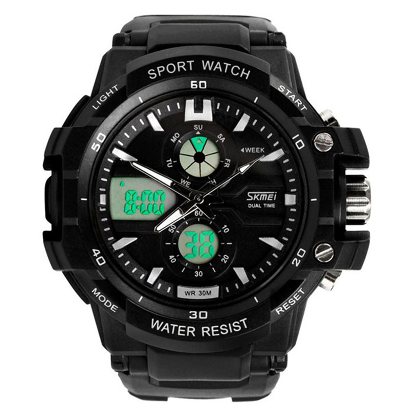 2018 New Multi Function Military S-Shock Sports Watch LED Analog Digital Waterproof Alarm Dropshipping L519 Z1026