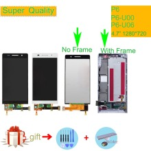 For HUAWEI P6 Lcd Display Touch Screen Digiziter LCD Complete Assembly With Frame P6S P6-U06 C00 T00 S-U06 Full