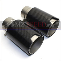 1PCS 63mm 66mm 70mm in 95MM out M Performance Exhaust Tailpipe Car Carbon Fiber Exhaust End Tips for BMW M3 M5 M6
