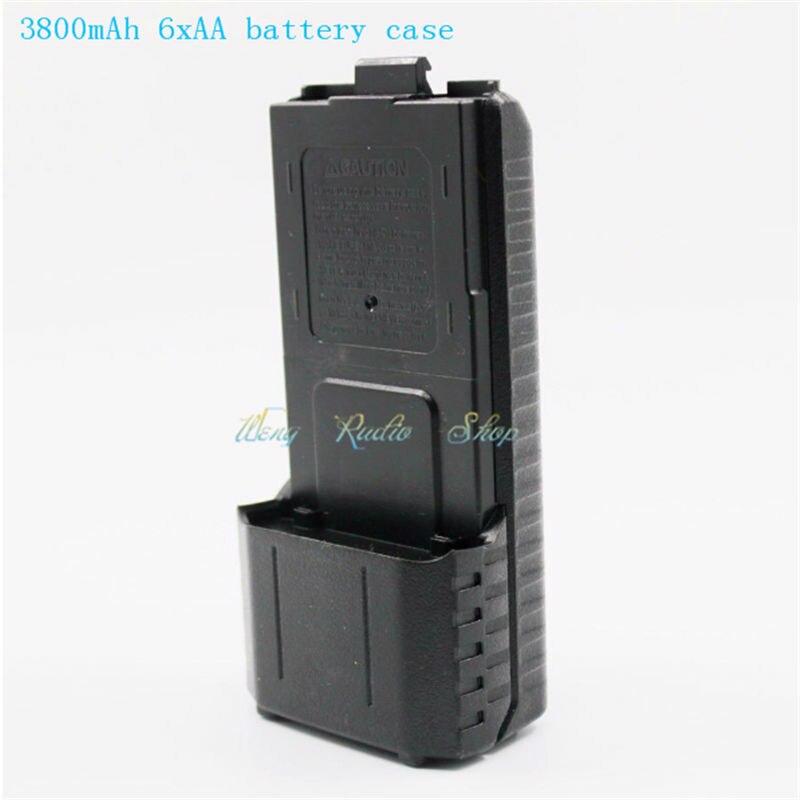 Baofeng radio walkie talkie zubehör 3800 mAh 6xAA batterie box für zwei-wege handfunkgerät Baofeng UV-5R UV-5RE Plus TYT TH-F8