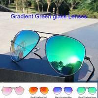 2017 Lüks Klasik Marka Tasarım erkek kadın sürüş cam lensler Gradient Aviator güneş 62mm 3025 Ayna óculos güneş gözlük