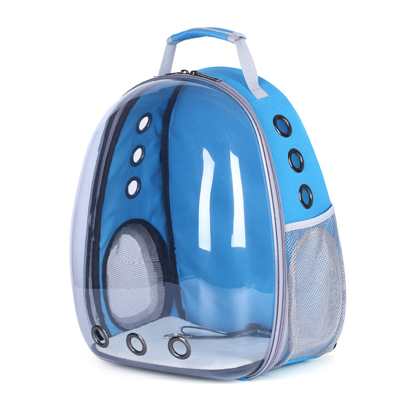 Panoramic side opening transparent pet backpack portable two shouldered supplies cat bag dog capsule in Carriers Strollers from Home Garden
