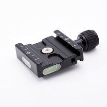 QR-50 быстросъемная пластина зажим адаптер со встроенным пузырьковым уровнем для Arca Swiss RRS Wimberley штатив шаровая Головка
