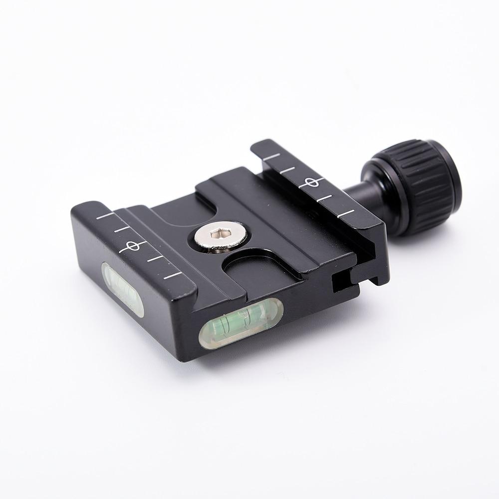QR-50 Plaque Quick Release Clamp Adaptateur avec Haut-Niveau À Bulle pour Arca Swiss RRS Wimberley Trépied Rotule