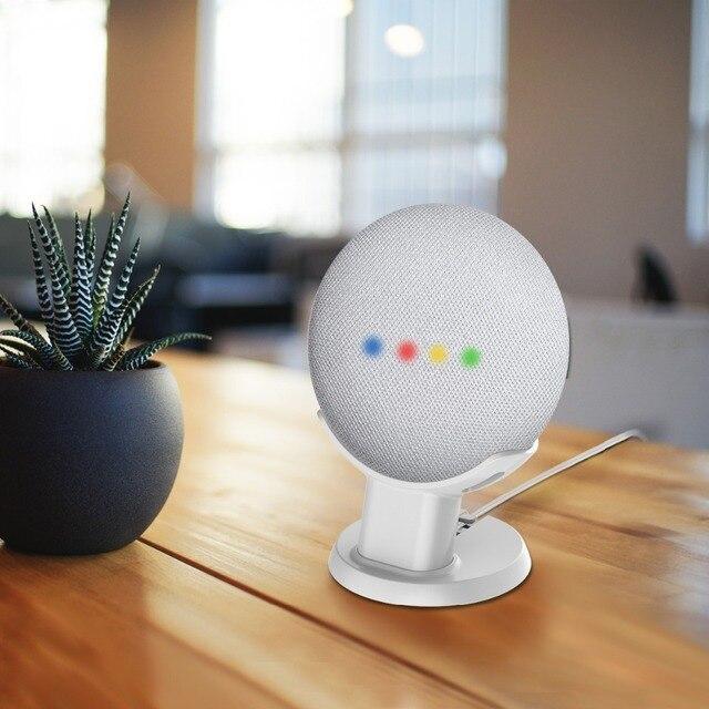 LINGYOU Table Stand Desktop Mount For Google Home Mini Nest Mini Voice Assistants Compact Holder Case Save Spacing Mount Bracket 2