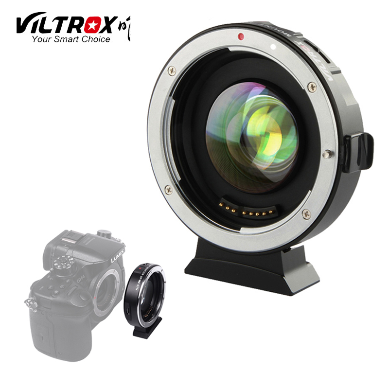 VILTROX EF-M2 AF Auto-focus EXIF 0.71X Réduire la Vitesse Booster Adaptateur D'objectif pour Canon EF mont série lens pour m43 Caméra GH4 GH5