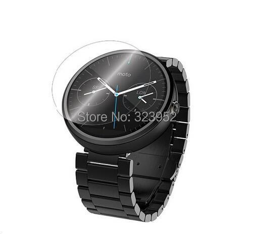 For Motorola Moto 360 font b Smartwatch b font Clear Screen Protector 500pcs lot Free Shipping