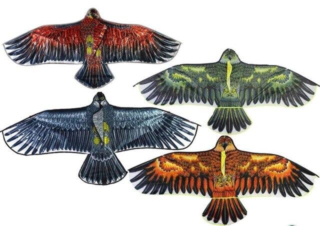 Спорт на открытом воздухе весело орел кайт с ручкой и м 30 М Строка воздушные змеи легко Управление хороший Летающий 100% оригинальный завод