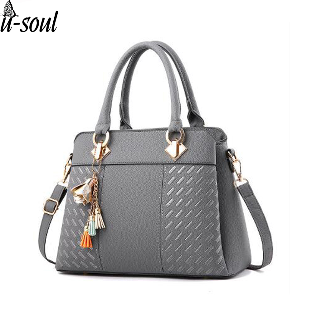 Ladies Handbags Shoulder Bag Tote Bag Messenger bag,Fashion large capacity simple PU leather top handle bag