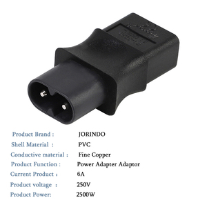Image 4 - 2 контактный Iec 320 C8 штекерным Iec 320 C9 Женский адаптер переменного тока 6A/250V ЕС промышленный Мощность конвертер