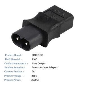 Image 4 - 2 broches Iec 320 C8 mâle à Iec 320 C9 femelle adaptateur secteur 6A/250V ue convertisseur de puissance industriel