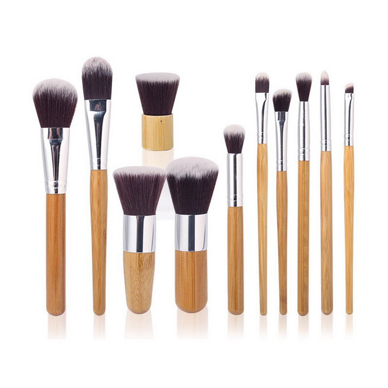 2016 hot professional 11pcs beauty makeup brushes set kit premium synthetic kabuki cosmetic blending blush eyeshadow