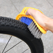 6 Pcs/set Bike Chain Cleaner Portable Bicycle Cleaning Tool Kit Bicycle Tire Brush Brake Disc Cleaner Brushes Washing Set gub 328 bicycle chain cleaning cleaner brush set red