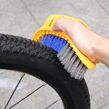 6 pcs/set Bike Chain Cleaner Portable Bicycle Cleaning Tool Kit Tire Brush Brake Disc Brushes Washing Set