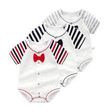 Summer time Skinny Child Garments Cotton Quick-sleeved Child Clothes Child Infants Romper