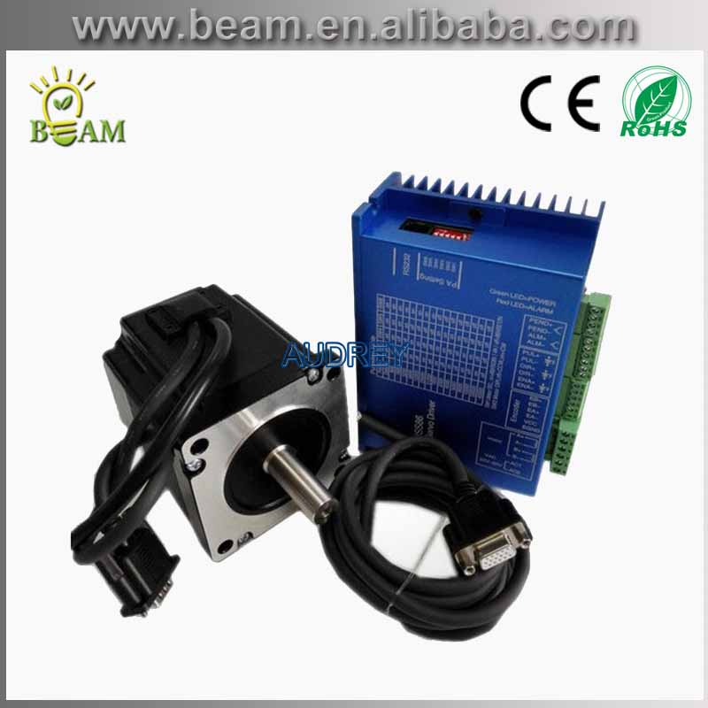 4N.m 4A 60mm Closed Loop Stepper Motor NEMA24 With Driver And 3M Cables / Length : 120mm 60HS100-4004XSV1000 top sale act motor closed loop stepper motor driver hbs57 24 50vdc for nema23 stepper motor with encoder top quality