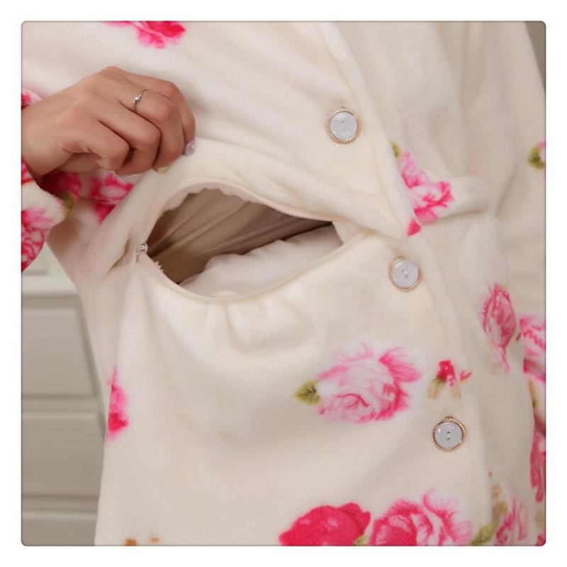 Flannel Maternity Pajamas (8)