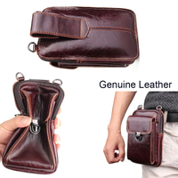 Genuine Leather Pouch Shoulder Belt Mobile Phone Case Bags For Asus Zenfone 5 ZE620KL,Zenfone 5 Lite ZC600KL,Zenfone 5z ZS620KL