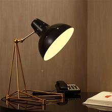 Post-modern Metal Table Lamps Bedroom Desk Bedside Reading Lights Living Room Lighting Decoration Avize