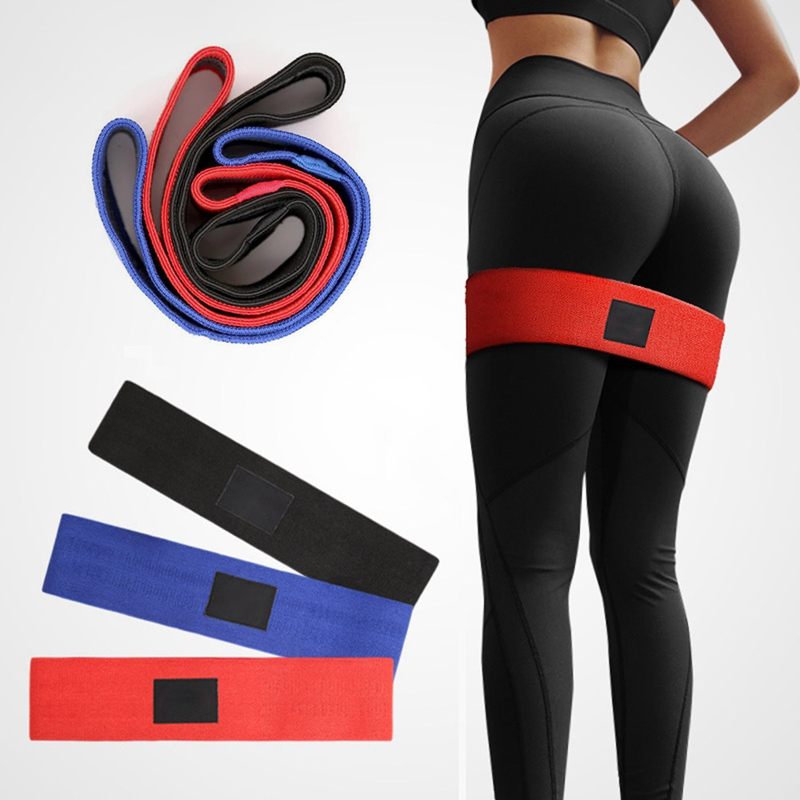 Anti Slip Cotton Hip Band Resistance Bands Booty Exercise