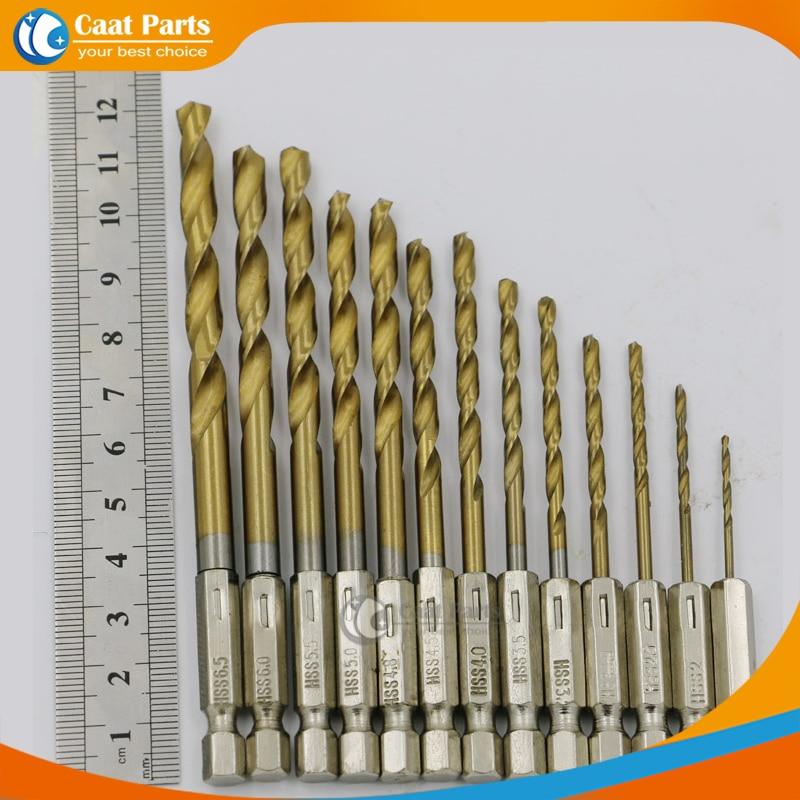 13 Unids / lote, 1.5-6.5mm 1/4 '' 6.35mm Brocas helicoidales de - Broca - foto 4