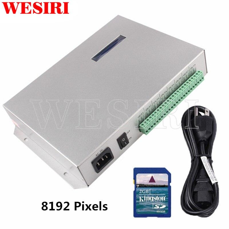 T 300K T300K SD カードを経由してオンライン PC RGB フルカラー LED ピクセルモジュールコントローラ 8 ポート 8192 ピクセル WS2811 WS2801 WS2812B  グループ上の ライト & 照明 からの RGBコントローラ の中 1