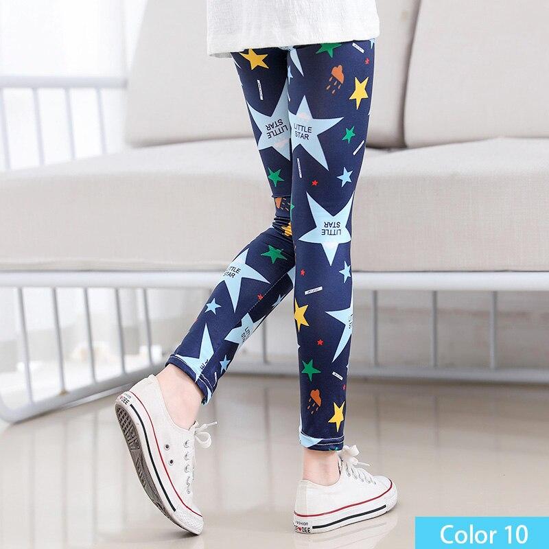 SheeCute/Леггинсы с принтом для девочек; одежда для маленьких девочек; Детские обтягивающие леггинсы с цветочным принтом; SC1752 - Цвет: color10