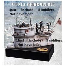 1/35 antik ekip dahil 5 savaşçı (tekne) oyuncak reçine modeli minyatür reçine şekil Unassembly boyasız