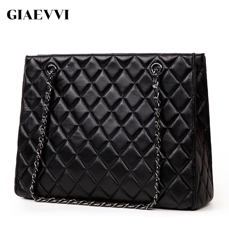 GIAEVVI women leather handbag crossbody fashion messenger bags genuine leather tote shoulder bag luxury handbags high quality giaevvi luxury handbags split leather tote women messenger bags 2017 brand design chain women shoulder bag crossbody for girls