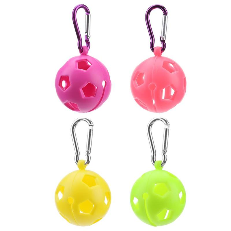 Silicone Golf Ball Sleeve Protective Cover Key Ring Keychain Golf Accessory Golf Training Aids Drop Shipping