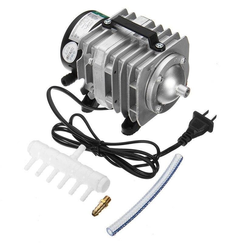 45 W 220 V 70L/min électromagnétique compresseur d'air pompe oxygène Aquarium poissons étang compresseur hydroponique Air aérateur pompe ACO-318