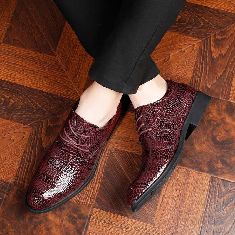 2019 new mens shoes Korean version of the trend of the British wind with mens pointed casual shoes crocodile mens shoes2019 new mens shoes Korean version of the trend of the British wind with mens pointed casual shoes crocodile mens shoes