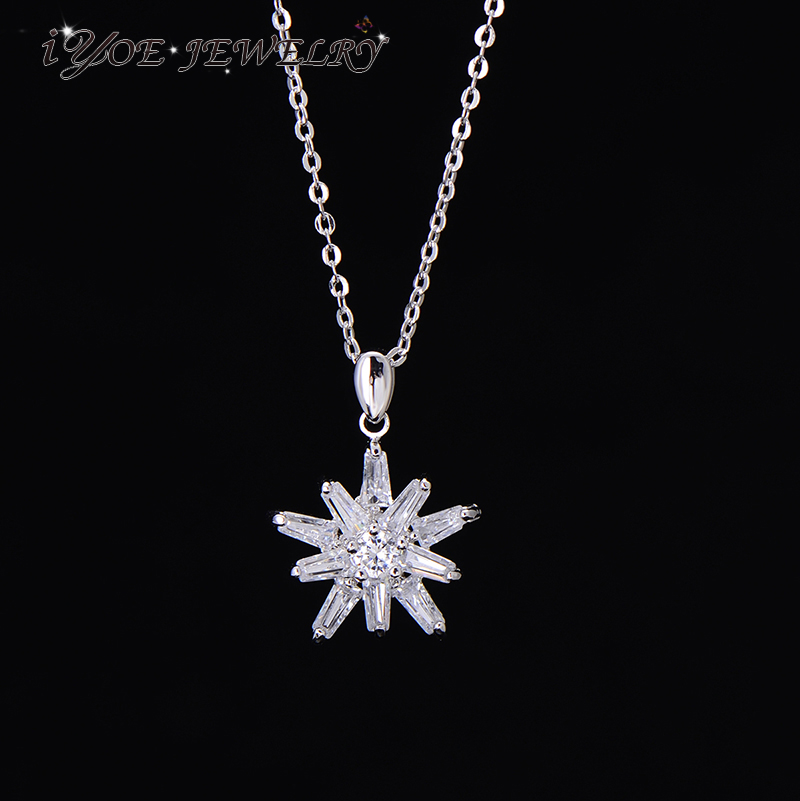 Latest Design Ladies Charming Fancy CZ Necklace For Women Real ...