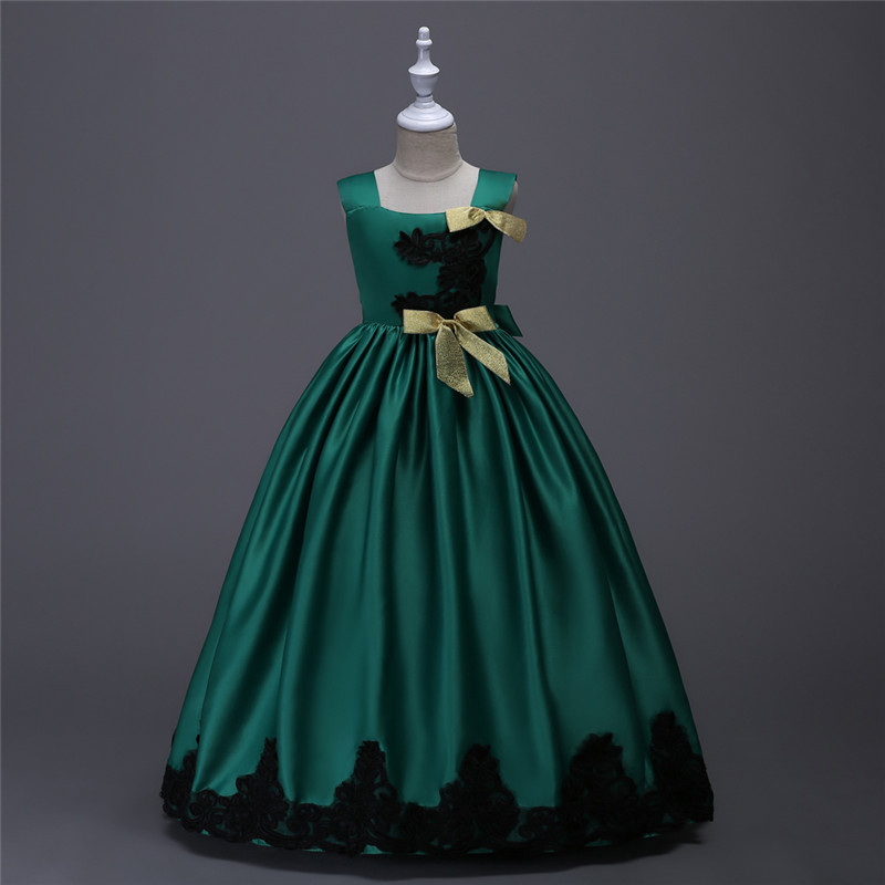 Fashion 4 To 15 Year Old Little Girls Evening Dress Yellow Purple Satin Lace Flower Pageant Gowns Girls for Wedding and Party семена little junsuh looked similar to garden 15 50