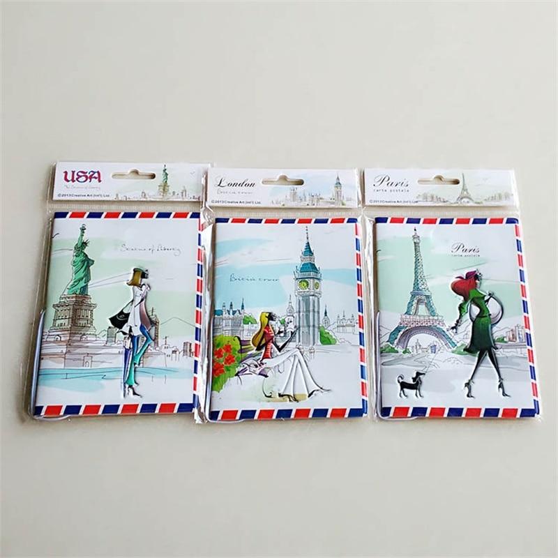 new style envelope border passport cover Documents Bag,3D design travel london cover to passport стоимость
